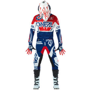 ONEAL 2021 YOUTH ELEMENT WARHAWK - BLUE/RED GEAR SET