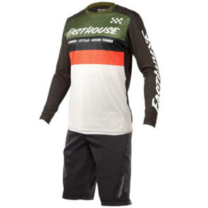 FASTHOUSE 2021 YOUTH ALLOY KILO L/S + YOUTH CROSSLINE SHORT