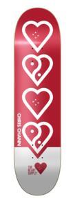 "THE HEART SUPPLY CHRIS CHANN BALANCE DECK RED  8"""""