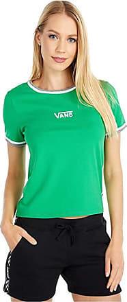 VANS WOMENS TAFFRAIL TEE GREEN GREY HEATHER WHITE