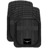 R.M.WILLIAMS RMW RUBBER FRONT MATS BLACK SET OF 2