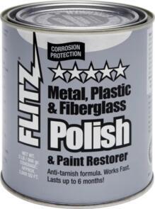 FLITZ POLISH PASTE METAL PLASTIC FIBREGLASS 906GM CAN