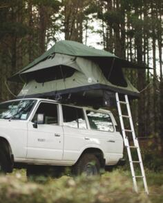 FELDON SHELTER CROW'S NEST REGULAR ROOFTOP TENT - GREEN