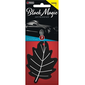 AIR FRESHENER LEAF BLACK MAGIC PK3