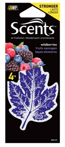 AIR FRESHENER LEAF WILDBERRY PK4