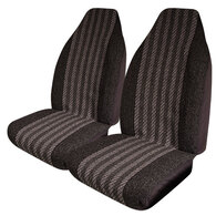 HYPER DRIVE ROADSTAR GREY FRONT SEAT COVER PAIR