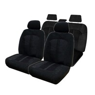 HYPER DRIVE VELOUR BLACK 4 PIECE SEAT COVER PACK