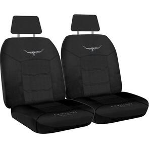 HYPER DRIVE R.M.WILLIAMS JACQUARD SEAT COVERS BLACK SIZE 30
