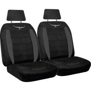 HYPER DRIVE RMW VELOUR SEAT COVERS BLACK SIZE 30