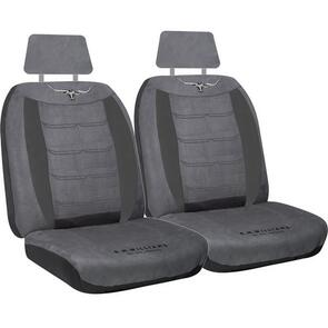 HYPER DRIVE R.M.WILLIAMS VELOUR SEAT COVERS GREY SIZE 30