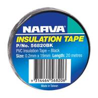NARVA PVC INSULATION TAPE BLACK 19MM - 20M