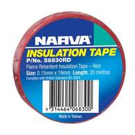 NARVA TAPE PVC FLAME RETARDANT RED - 20M