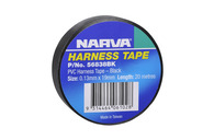 NARVA PVC HARNESS TAPE BLACK 19MM - 20M