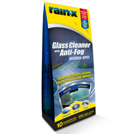 RAIN-X GLASS CLEANER WITH ANTIFOG WIPES
