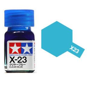 TAMIYA X23 ENAMEL CLEAR BLUE