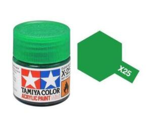 TAMIYA X25 ACRYLIC 10ML CLEAR GREEN