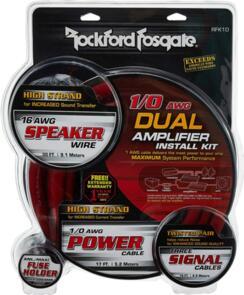 ROCKFORD FOSGATE RFK1D WIRING KIT FOR 2 AMPLIFIERS