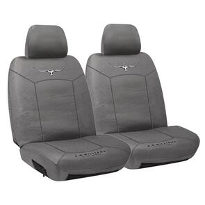 HYPER DRIVE R.M.WILLIAMS CANVAS SEAT COVERS GREY SIZE 30