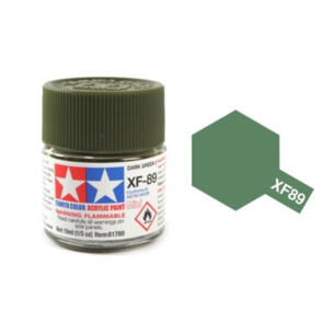 TAMIYA XF89 ACRYLIC 10ML DARK GREEN 2