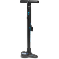 BLACKBURN PISTON 2 FLOORPUMP BLACK CYAN