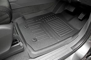 RUBBER TREE 3D DEEP DISH RUBBER UTE FLOOR MATS - CUSTOM MADE