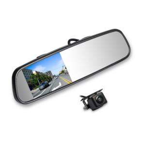 """AUTOVIEW 4"""" MIRROR KIT CLIP ON WITH CAMERA"""