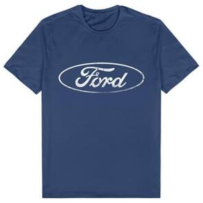 SUPERCARS FORD LOGO MENS NAVY TEE