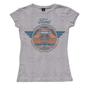 SUPERCARS FORD LADIES 1969 FALCON TEE - GREY MARLE