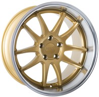 FORUM WHEELS ZEUS GOLD POLISHED LIP