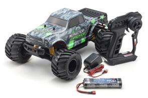 KYOSHO MONSTER TRACKER 1.0 GREEN (INC BATTERY & CHARGER)