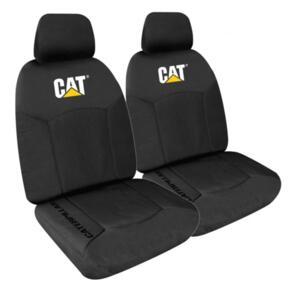 CATERPILLAR CAT ICON CANVAS SEAT COVER SIZE 30 BLACK