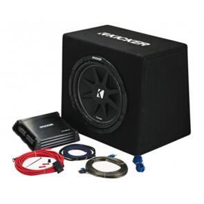 "KICKER 12"" KICKPACK - SUB + AMP + WIRING KIT"