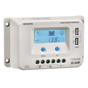 PROJECTA SOLAR CONTROLLER 12/24V 20A 4 STAGE