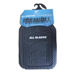 HYPER DRIVE ALL BLACKS ALL WEATHER FRONT MAT SET