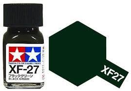 TAMIYA XF27 ENAMEL BLACK GREEN