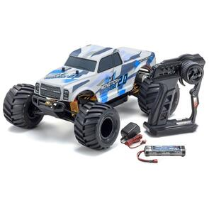 KYOSHO MONSTER TRACKER 2.0 BLUE (INC BATTERY & CHARGER)