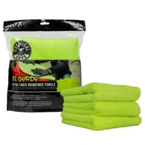 CHEMICAL GUYS PROFESSIONAL FAT LIME GREEN MICROFIBER 70/30 THICK
