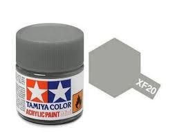 TAMIYA XF20 ACRYLIC 10ML MEDIUM GREY