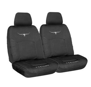 HYPER DRIVE R.M.WILLIAMS CANVAS SEAT COVERS BLACK SIZE 30