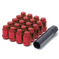 TORQ SPLINE WHEEL NUTS X 20 ELECTRIC RED 1.25