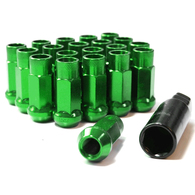TORQ EXTENDED WHEEL NUTS X 20 GREEN 1.25