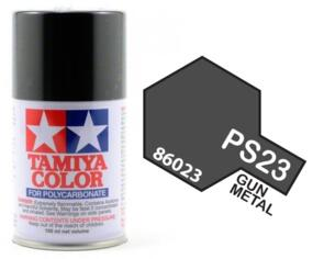 TAMIYA PS-23 POLYCARB SPRAY GUN METAL
