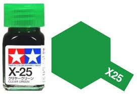 TAMIYA X25 ENAMEL CLEAR GREEN