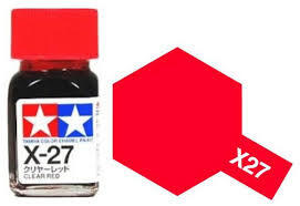 TAMIYA X27 ENAMEL CLEAR RED
